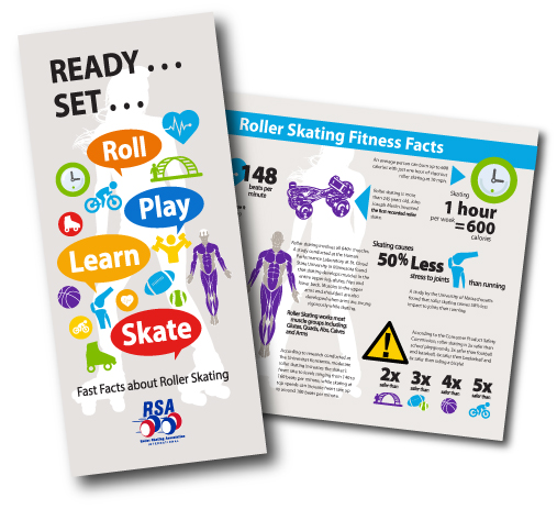 Brochure - Roller Skating Fitness Facts Infographic Brochure (#B117)